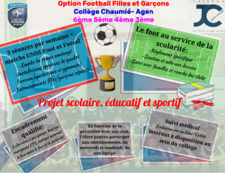 Option Football Filles et Garçons 2020/2021 Nouveau partenaire!